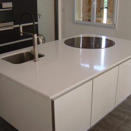 Cuisine Granit blanc