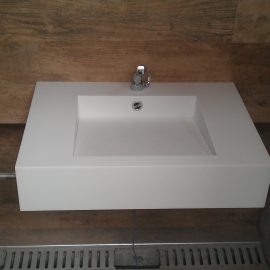 Salle de bain Corian blanc